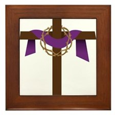 Season Of Lent Cross Framed Tile