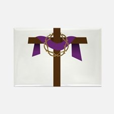 Season Of Lent Cross Rectangle Magnet