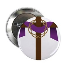 "Season Of Lent Cross 2.25"" Button"