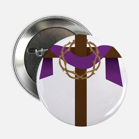 "Season Of Lent Cross 2.25"" Button"