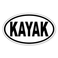 KAYAK Oval Oval Decal