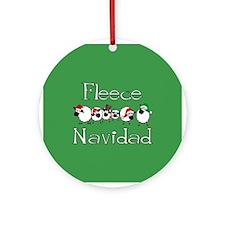 Fleece Navidad Ornament (Round)