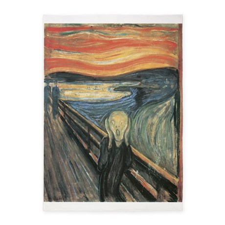 The Scream Painting 5u0027x7u0027Area Rug