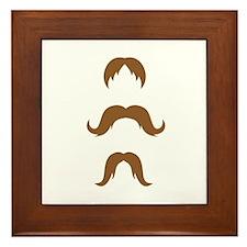 Cute Mustache coffee Framed Tile