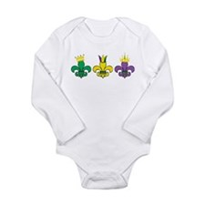 Mardi Gras Long Sleeve Infant Bodysuit
