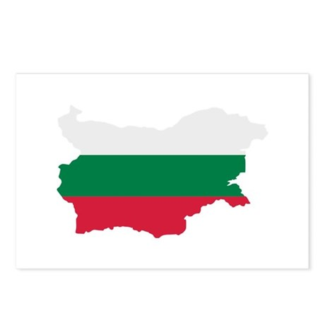 Bulgaria map flag Postcards (Package of 8)