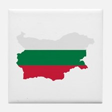 Bulgaria map flag Tile Coaster