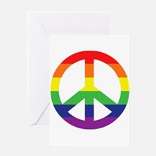 Big Rainbow Stripe Peace Sign Greeting Card