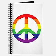 Big Rainbow Stripe Peace Sign Journal