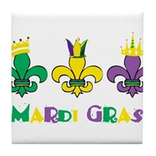 Mardi Gras Royalty Party New Orleans Tile Coaster