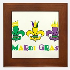 Mardi Gras Royalty Party New Orleans Framed Tile