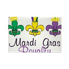 Mardi Gras Royalty Rectangle Magnet