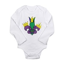 Mardi Gras Party Long Sleeve Infant Bodysuit