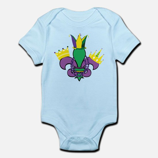 Mardi Gras Party Infant Bodysuit