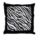 Zebra Stripes Throw Pillow