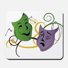 Mardi Gras Face Masks Mousepad