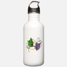 Mardi Gras Face Masks Water Bottle