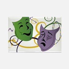 Mardi Gras Face Masks Rectangle Magnet