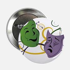 "Mardi Gras Face Masks 2.25"" Button"