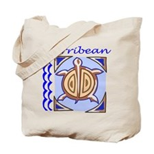 Carribean Turtle Tote Bag