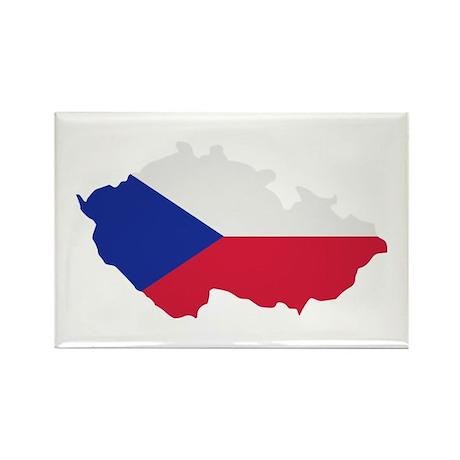 Czech Republic map flag Rectangle Magnet