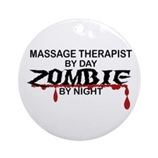 Massage Therapist Zombie Ornament (Round)