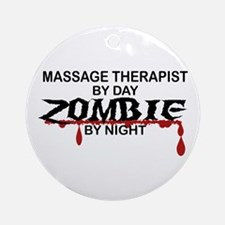 Massage Therapist Zombie Ornament (Round)