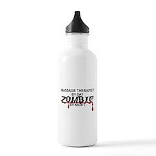 Massage Therapist Zombie Water Bottle