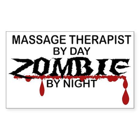 Massage Therapist Zombie Sticker (Rectangle)