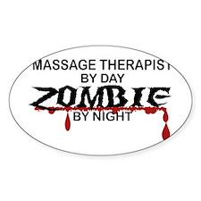 Massage Therapist Zombie Decal