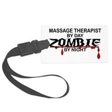 Massage Therapist Zombie Luggage Tag