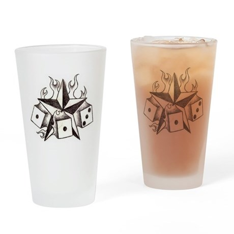 Dice n Star Drinking Glass