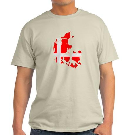 Denmark map flag Light T-Shirt