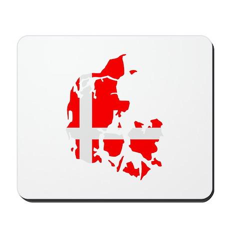 Denmark map flag Mousepad