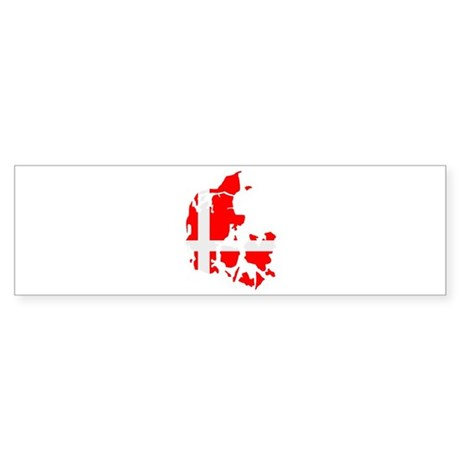 Denmark map flag Sticker (Bumper)