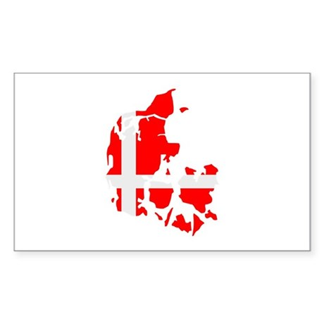 Denmark map flag Sticker (Rectangle)