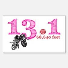 13.1 Half Marathon Pink Decal