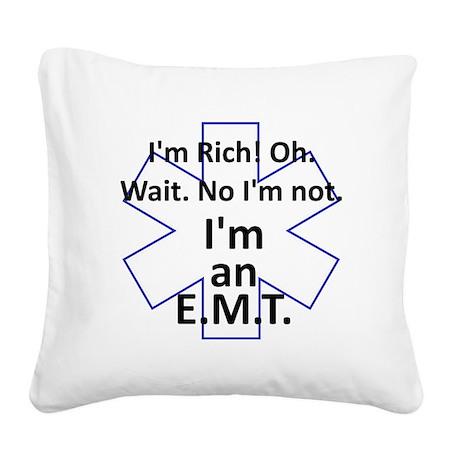 Rich EMT Square Canvas Pillow
