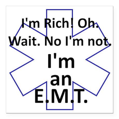"""Rich EMT Square Car Magnet 3"""" x 3"""""""