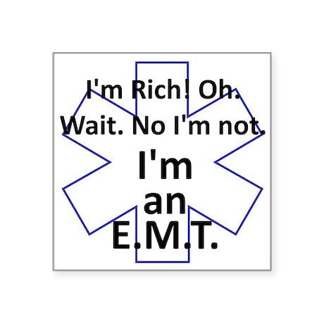 "Rich EMT Square Sticker 3"" x 3"""