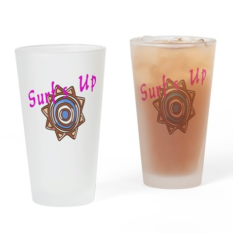 Surf's Up Drinking Glass