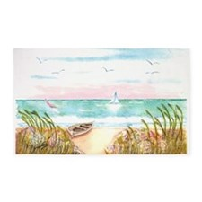beach poster.png 3'x5' Area Rug