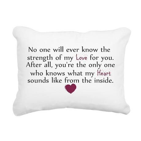 heartfrom inside.png Rectangular Canvas Pillow