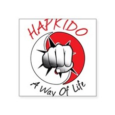"Hapkido Square Sticker 3"" x 3"""
