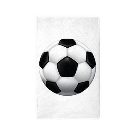 Soccer Ball 3'x5' Area Rug