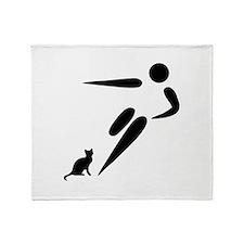 Kick Cat Throw Blanket