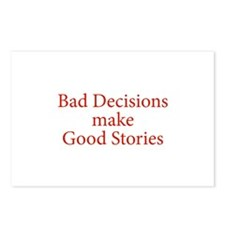 Bad decisions make great stories. Postcards (Packa