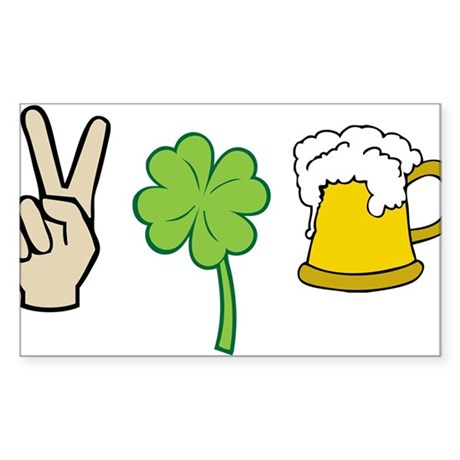Saint Patrick's Day Sticker (Rectangle)