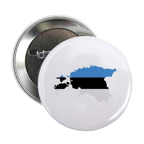 "Estonia map flag 2.25"" Button (100 pack)"