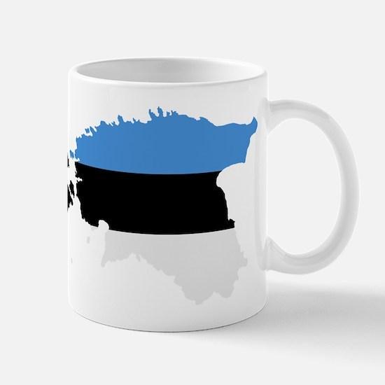 Estonia map flag Mug